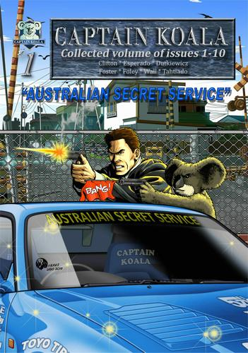 Cover of the Captain Koala graphic novel - Australian secret service